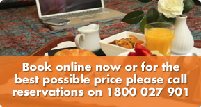 Book online now or for the best possible price please call reservations on 1800 027 901